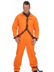 Orange Prisoner Jumpsuit - Halloween Mens Costumes