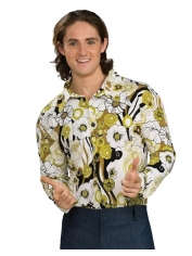 Green Groovy Shirt - Men's Hippie Costumes