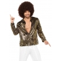 Men's Gold Zebra Disco Shirt - 70's Disco Costumes