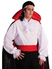 White Ruffled Shirt - Mens Costume