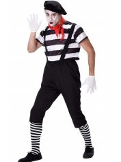 Mime French Artist - Mens Costume