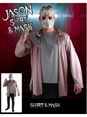 Jason Shirt and Mask - Halloween Men Costumes