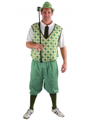 Traditional Golfer Green - Men's Old Golfer Costume
