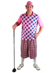 Traditional Golfer Pink - Men's Old Golfer Costume