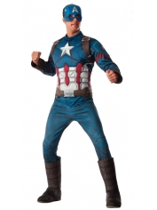 Captain America Deluxe - Adult Men's Costumes