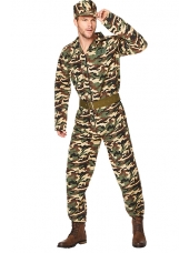 Army Man Camo Suit - Men's Army Costume