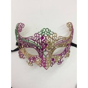 Purple and Gold Glitter - Masquerade Masks
