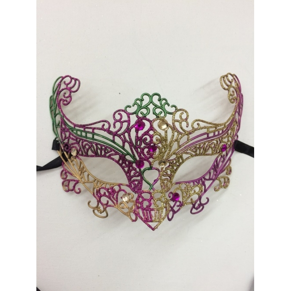 Purple And Gold Glitter Masquerade Masks