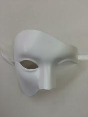 White Half Face - Masquerade Masks