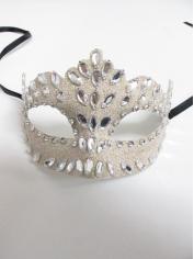 Clear Fake Diamonds - Masquerade Masks