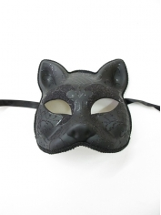 Cat Mask with Glitter - Masquerade Masks