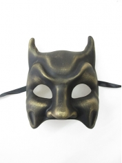 Dark Gold Bat Mask - Masquerade Masks