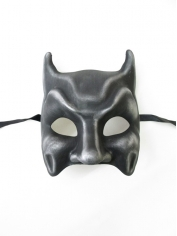 Dark Silver Bat Mask - Masquerade Masks