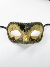 Gold Black Print - Masquerade Masks