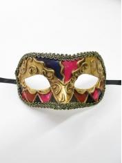 Gold Pink Print - Masquerade Masks