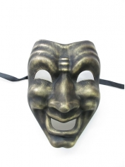 Gold Happy Face Mask - Masquerade Masks