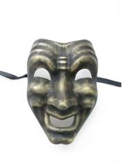 Gold Happy Face Mask - Masquerade Masks