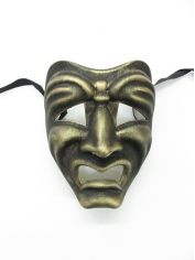 Gold Tragedy Face Mask - Masquerade Masks
