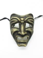 Gold Tragedy Face Mask - Masquerade Masks