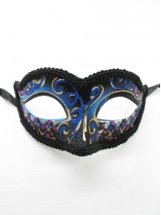 Blue Black with Glitter - Masquerade Masks