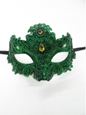 Green Lace Eye Mask - Masquerade Masks