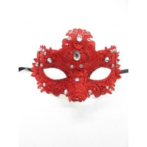 Red Lace Eye Mask - Masquerade Masks