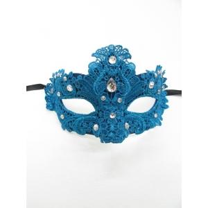 Light Blue Lace Eye Mask - Masquerade Masks