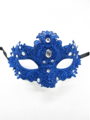 Blue Lace Eye Mask - Masquerade Masks