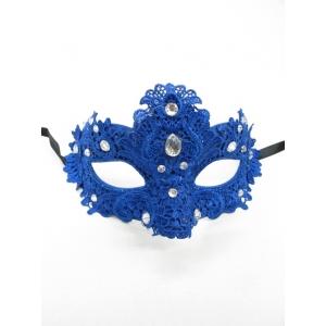 Blue Lace Eye Mask - Masquerade Masks