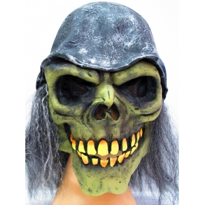 Skull Soldier Mask with Helmet and Hair