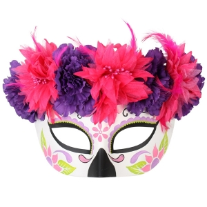 Day Of The Dead Half Mask - Halloween Masks