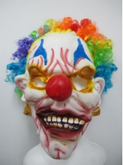 Clown Mask with Rainbow Hair - Halloween Masks