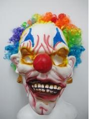 Clown Mask with Rainbow Hair - Halloween Masks