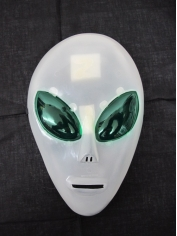 Plastic Alien Mask - Halloween Masks