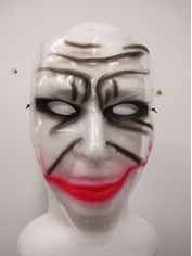 Plastic Clown Mask - Halloween Masks