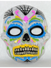Transparent Day of the Dead - Halloween Mask