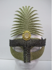 Gold Glitter with Diamond - Masquerade Masks