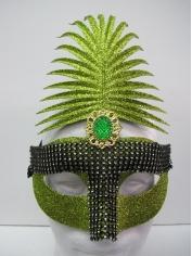 Green Glitter with Diamond - Masquerade Masks