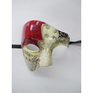 MAESTRO Red Silver Eye Mask