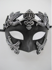 Roman Mask Black - Masquerade Masks