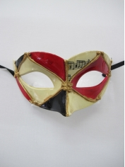 Red Black Eye Mask - Masquerade Masks