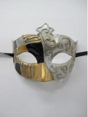 Warrior Metallic Eye Mask - Masquerade Masks