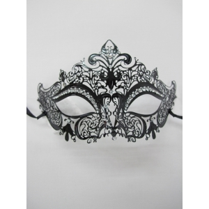 Metal Eye Mask with Clear Jewels