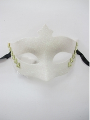 White Mask with Glitter - Masquerade Masks