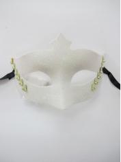 White Mask with Glitter - Masquerade Masks