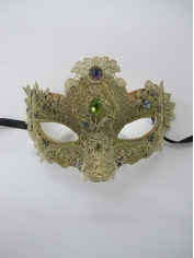 Gold Lace Eye Mask - Masquerade Masks
