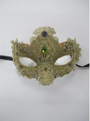 Gold Lace Eye Mask - Masquerade Masks