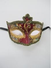 SALVATORE Red Eye Mask - Masquerade Masks