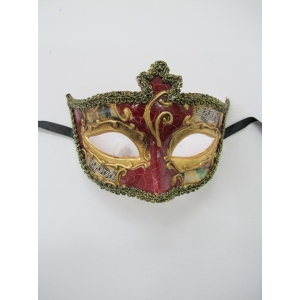 SALVATORE Red Eye Mask - Masquerade Masks
