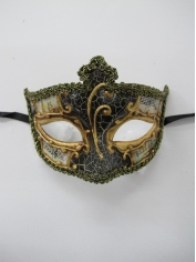 SALVATORE Black Eye Mask - Masquerade Masks
